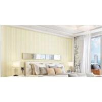 竖条纹壁纸3D无纺布墙纸卧室客厅美式简约现代背景墙中式家用