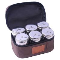 烧烤调料罐 户外野炊工具配件套装便携调味瓶调料盒烧烤调料组合装旋转式撒料罐洒粉器