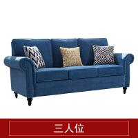 美式布艺沙发实木田园风格组合客厅大小户型乡村单三人沙发