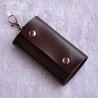 韩版钥匙包女士可爱休闲男士钥匙扣包 棕色