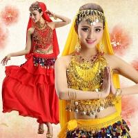 新品肚皮舞套装演出服裙套 印度舞服装表演服 练功服练习服女 均码