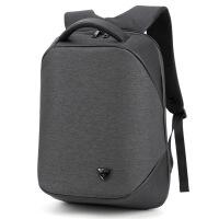 茉蒂菲莉 双肩包男 多功能商务防盗包电脑背包户外旅行双肩包USB充电男包