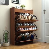 超薄翻斗鞋柜子储物玄关门厅柜客厅窄简约现代中式实木色进门鞋架 组装