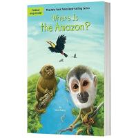 亚马孙丛林在哪里 英文原版 Where Is the Amazon? 儿童桥梁章节书 中小学生读物 英文版 现货正版进