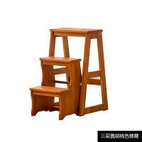 实木家用折叠楼梯椅子两用四步梯凳室内登高爬梯子木梯