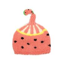 户外保暖套头帽子宝宝单层针织帽毛线帽女童西瓜帽子