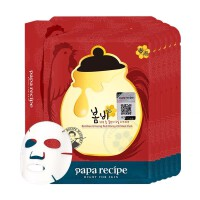 春雨(Papa Recipe)红参蜂蜜面膜保湿补水收缩毛孔敏感肌可用 10片/盒防伪版