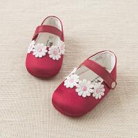 davebella戴维贝拉2017春季新款女宝婴儿鞋 新生儿软底步前鞋