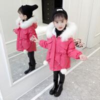 冬装儿童女孩棉袄洋气加厚外套中长款潮童装女童棉衣