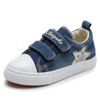 儿童帆布鞋春季男女童牛仔布鞋休闲板鞋低帮学生鞋
