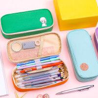 小学生笔袋韩国简约女生大容量儿童可爱创意铅笔盒女孩文具盒文具袋小清新女童中学生铅笔袋可放20厘米直尺