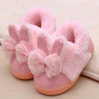 棉拖鞋冬季包跟男女童宝宝小孩居家室内保暖可爱毛毛绒子鞋