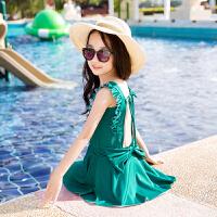儿童泳衣 女孩连体可爱公主裙式宝宝泳装女童游泳衣