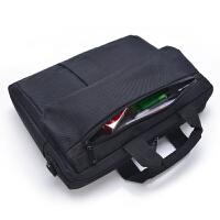 男包手提包男士商务公文包牛津纺帆布横款电脑包单肩背包包大容量