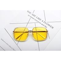 时髦方形边框墨镜近视镜大方框男女网红明星款大框眼镜架平光镜框