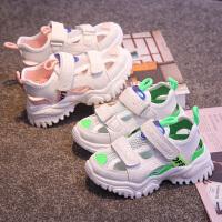 夏季儿童运动凉鞋男童软底时尚沙滩鞋女童镂空包头童鞋