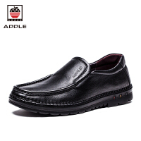 苹果APPLE商务休闲鞋皮鞋套脚正装鞋AP-1607