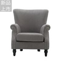 懒人沙发 北欧单人沙发 阳台卧室迷你小沙发休闲布艺老虎椅定制