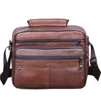 横款真皮单肩包男士包包斜挎包手提男包商务时尚韩版公文包小背包