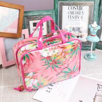 粉色少女心大容量化妆包韩国防水洗漱包旅行便携收纳包