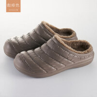 棉拖鞋女家居室内防水保暖防滑厚底情侣包跟皮拖鞋男
