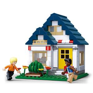 【当当自营】小鲁班模拟城市系列儿童益智拼装积木玩具 小欧的健身房M38-B0569