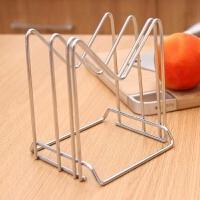 厨房多功能不锈钢置物架刀架砧板架刀座不锈钢沥水架锅盖架收纳架