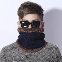 脖套男保暖防风加绒加厚男士韩版百搭简约针织毛线围脖女
