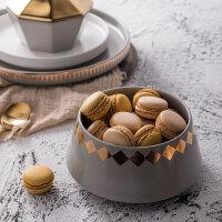 奇居良品莫纳创意陶瓷餐具西餐牛排平盘家用菜盘贴花沙拉盘沙拉碗