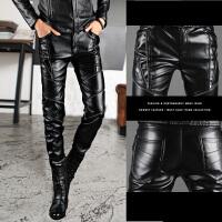 男装201WPU976Y1W0P8W长裤直筒新款休闲韩版青少年修身男皮裤男裤
