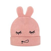 户外运动宝宝套头帽卡通护耳毛线帽针织保暖婴幼儿帽子防风帽