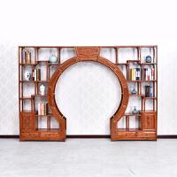 古家具中式实木双圈月洞门博古架榆木门厅隔断尺寸可定做 2米以上