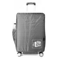 拉杆箱外套防水防磨 加厚行李箱保护套牛津布拉杆箱包套24/28寸皮箱旅行箱防尘袋防水 银灰色 24寸(加厚防水) 是箱