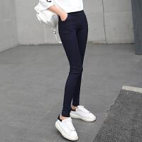 打底裤 女士秋季韩版新款单色高腰铅笔小脚裤女式时尚舒适百搭修身显瘦款休闲裤
