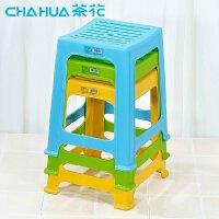 茶花 条纹中方凳/塑料椅子 小矮儿童板凳 耐压型0848
