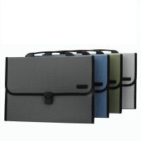 得力5556风琴包 A4手提式文件包 事务包 公文包 多层文件收纳包