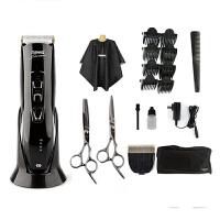 雷瓦(RIWA)X7专业理发器 全身水洗液晶显示锂电 成人儿童电推剪 理发剪剃头器(原装刀头+剪刀套餐)