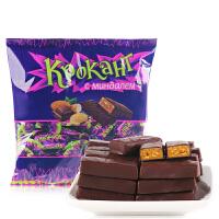 【满减】KDV俄罗斯紫皮糖进口糖果500g 散装果仁巧克力喜糖零食批发包邮