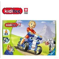 送奥特蛋 孩子拼装玩具正版瑞士凯迪的克Kiditec百变积木车