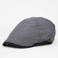 男士贝雷帽子薄款青年鸭舌帽 韩版时尚男式前进帽 中年潮流休闲帽子