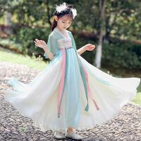 女童汉服夏装中国风儿童古装唐装襦裙女孩连衣裙夏季