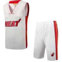 迈阿密热火队运动休闲训练篮球服薄款透气舒适篮球跑步服套装男款