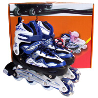 乐士MS168溜冰鞋儿童成人用可调直排轮滑鞋旱冰鞋
