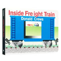 英文原版绘本 Inside Freight Train 火车的里面 英文版儿童科普机关操作纸板书 英语启蒙阅读早教育儿