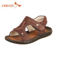 红蜻蜓童鞋夏季韩版时尚软底魔术贴沙滩儿童凉鞋