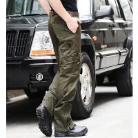 户外军装裤男宽松耐磨战术裤工装裤作训登山军训迷彩裤直筒特种兵
