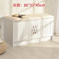 换鞋凳储物简约现代木烤漆矮鞋柜白色时尚穿鞋凳欧式收纳试床尾凳