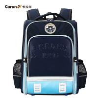 卡拉羊新款书包男女儿童减负双肩背包2-6年级小学生书包潮CX2656