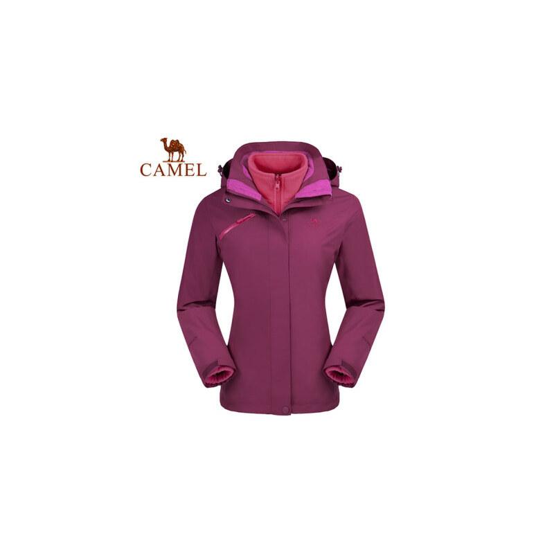 【满259减200元】camel骆驼户外女冲锋衣 两件套三合一女款潮牌冲锋衣