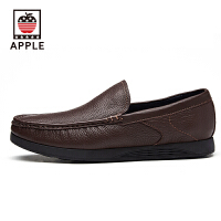 苹果APPLE头层牛皮男士商务时尚休闲皮鞋